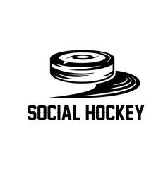 social hockey design template vector image vector image