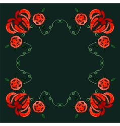 Stylish Floral Card in vector image vector image