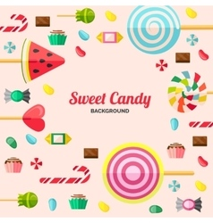 Sweet candy poster vector
