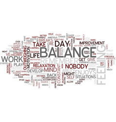 The balance of balance text background word cloud vector