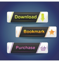 Three buttons with arrow and word download now vector image vector image