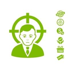 Victim businessman icon with free bonus vector