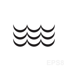 Wave Black And White Icon vector image vector image