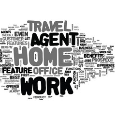 Work at home agent text word cloud concept vector
