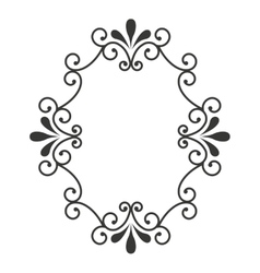 Elegant frame decoration isolated vector