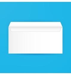 White Blank Open Envelope Mockup vector image