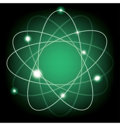 atomic model vector image