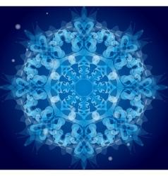 Blue ornament vector image