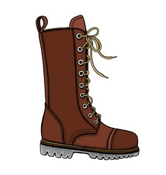 Woman s brown leather boots vector