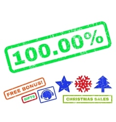 10000 percent rubber stamp vector