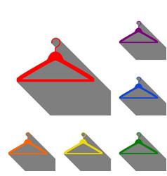 hanger sign set of red orange vector image