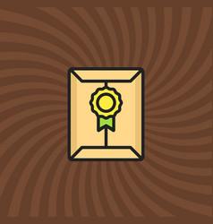 secret document letter icon simple line cartoon vector image