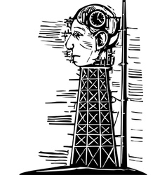Head Tower vector image