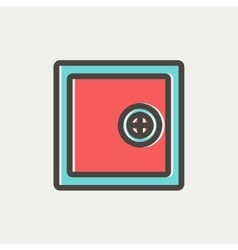 Safe vault thin line icon vector