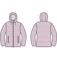 Down jacket vector image