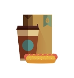 Fast food lunch in flat design vector