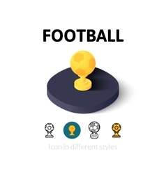 Football icon in different style vector