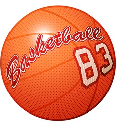 Orange 3d basketball sports equipment with vector