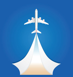 airplane flight on the sky vector image vector image