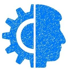 Android robotics grainy texture icon vector