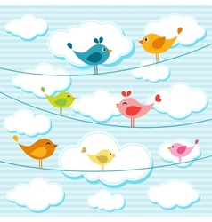 Birds on wires vector
