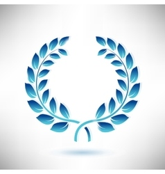 Blue Laurel Wreath vector image