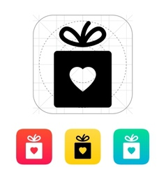 Box with heart icon vector image vector image