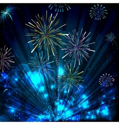Colorful firework vector