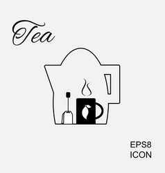 Cup of hot tea icon vector