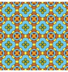 Cute flowers seamless pattern vector