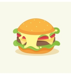 funny cartoon burger vector image