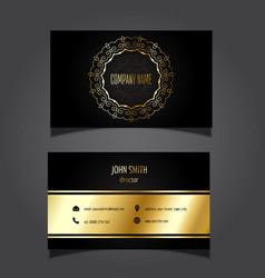 gold and black business card 0505 vector image vector image