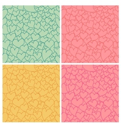 Hearts seamless set vector image vector image