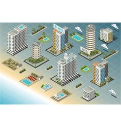 Isometric Seaside Buildings vector image