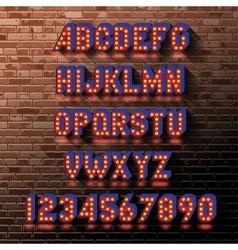 Light bulb alphabet vector