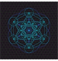 metatron outline seed of life sacred geometry vector image