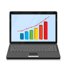 Monitor with business graph vector
