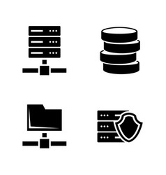 network servers simple related icons vector image vector image