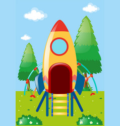 Rocket playstation in park vector