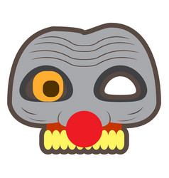 Scary clown mask vector