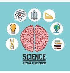 Science icons design vector image vector image