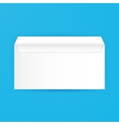 White Blank Open Envelope Mockup vector image