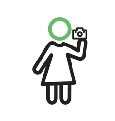 Woman taking picture vector