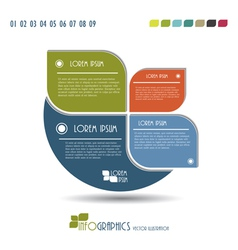 Modern infographics template vector