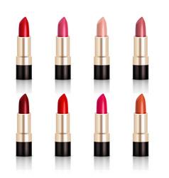 Lipstick assortment set vector