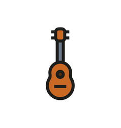 Acoustic guitar icon on white background vector