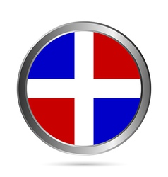 Dominicanrepublic flag button vector
