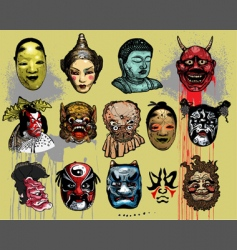 asian masks vector image