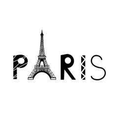 Paris sign with eiffel tower vector