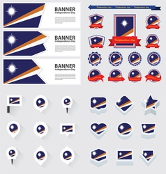 Set marshall islands vector